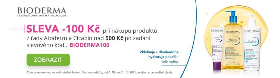 Sleva -100 Kč na vybranou kosmetiku BIODERMA
