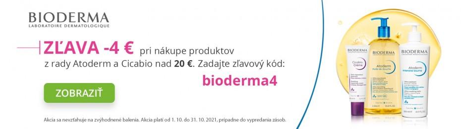 Zľava -4 € na vybranú kozmetiku BIODERMA