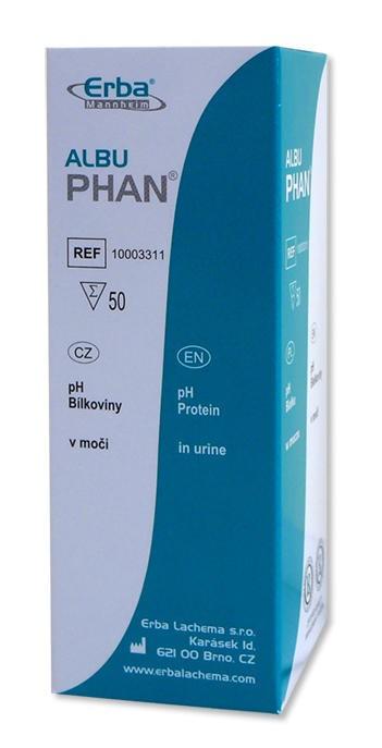 AlbuPHAN – pH, bílkoviny, 50 ks