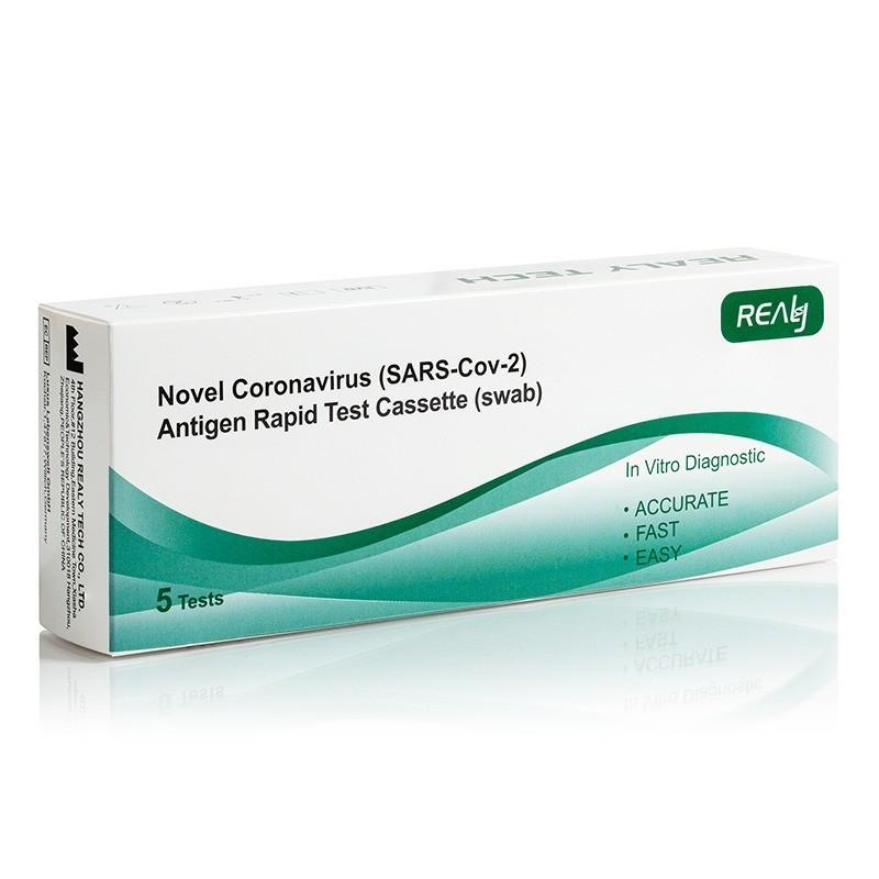 Antigenní RAPID test na Covid, výtěr z nosohltanu, 5 ks