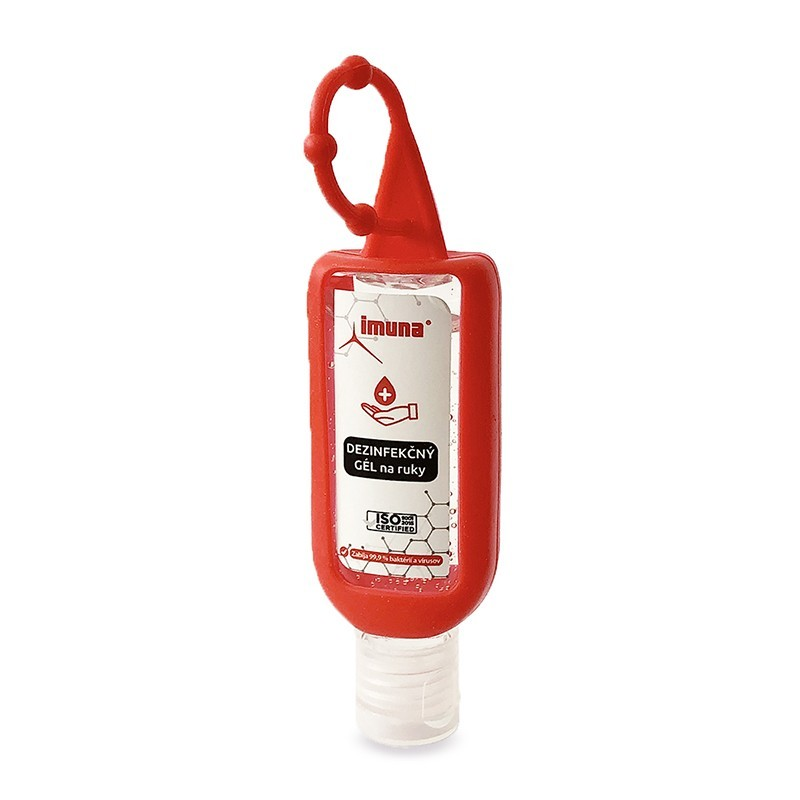 AntiMicrol Gel 50 ml s červeným silikónovým držiakom CLIP