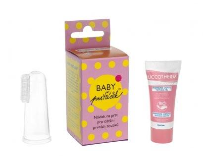 Baby Prsťáček průhledný + Buccotherm BIO masážní gel pro batolata, 8 ml