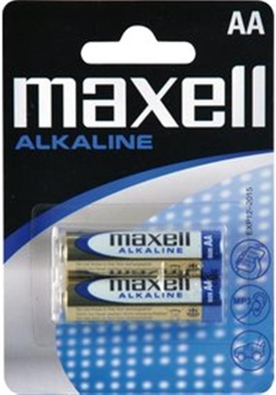 Baterie tužková alkalická Maxell LR6 2BP (R6) AA, 2 ks