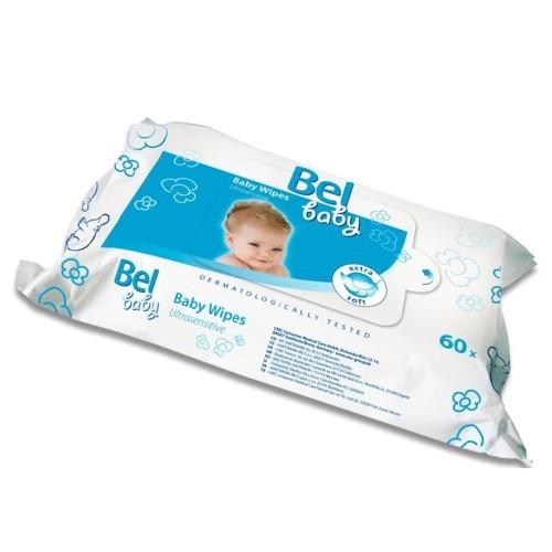 Bel Baby - dětské vlhčené ubrousky, 60 ks v balení