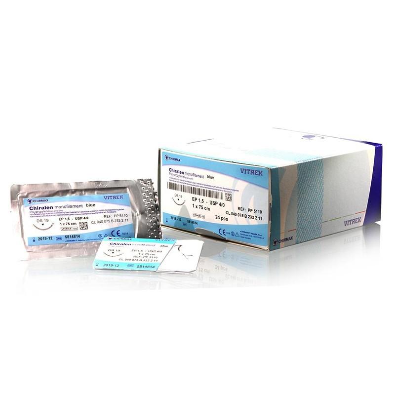 Chiralen monofil modrý 6/0 (0,7) 45 cm DS12, 24 ks v balení