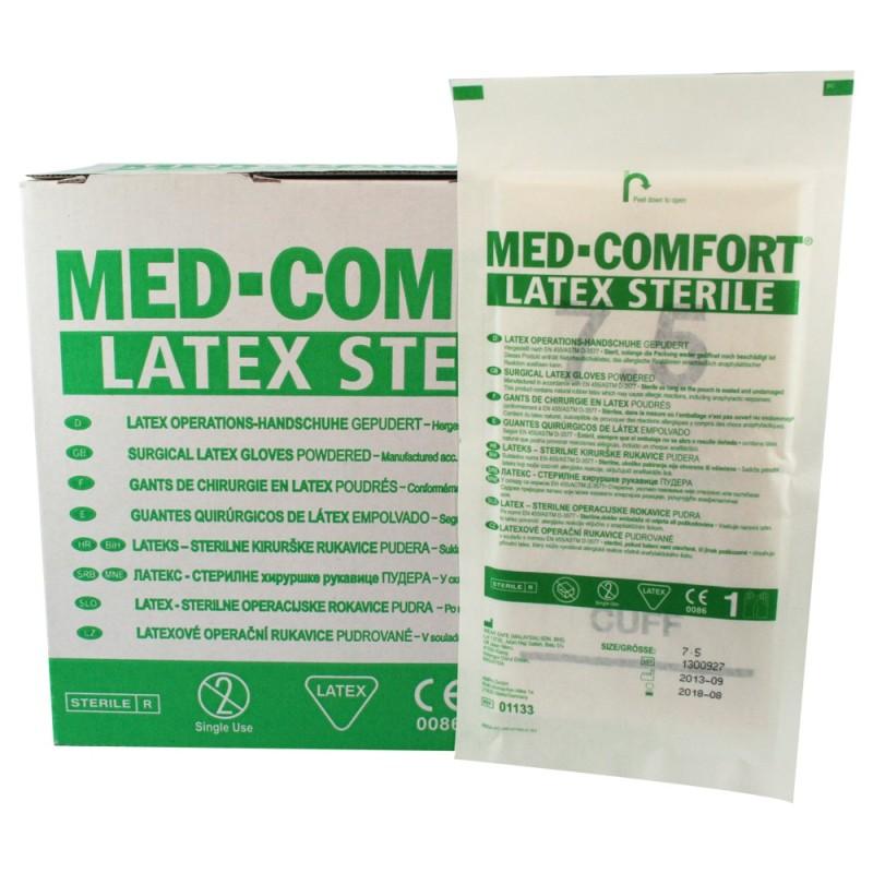 Chirurgické rukavice Med Comfort latex, sterilné, púdrované, pár