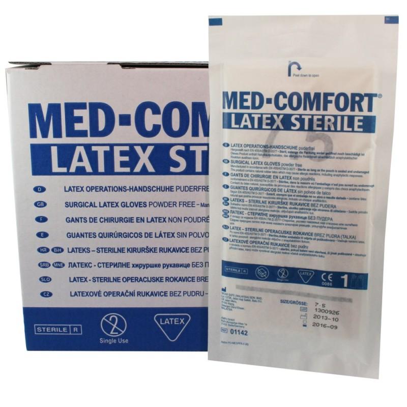 Chirurgické rukavice Med Comfort latex, sterilní, nepudrované, pár