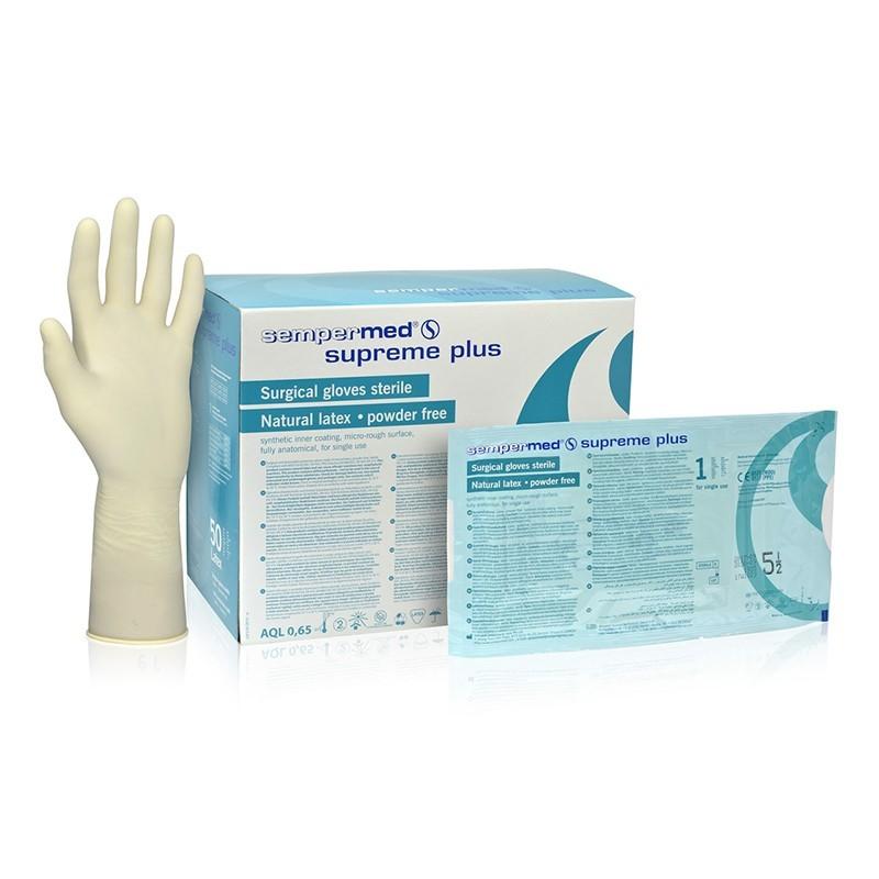 Chirurgické rukavice Sempermed Supreme Plus latex, sterilní, nepudrované, pár