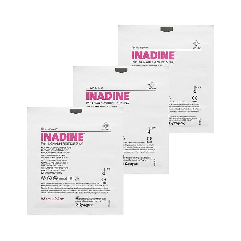 Dezinfekční mastné krytí INADINE, 9,5 x 9,5 cm, 25 ks