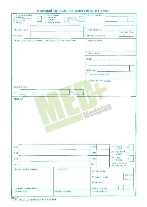 DOPRODEJ Průvodní list k zásilce biopt. materiálu