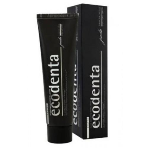 ECODENTA Černá bělící zubní pasta s uhlím a extraktem Teavigo, 100 ml