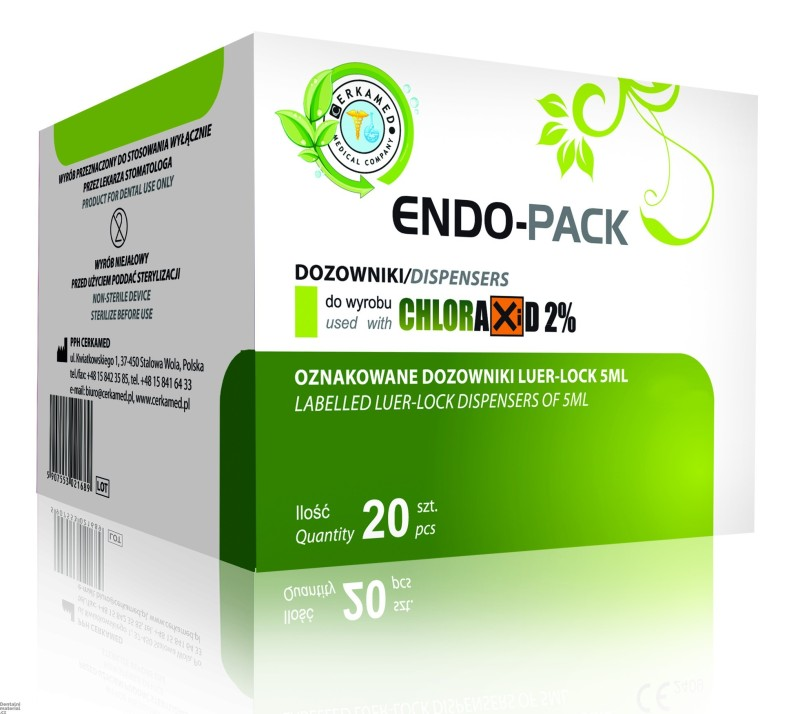 Endo-Pack Chloraxid, 20 x 5 ml stříkačka