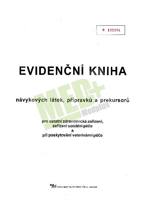 Evidenční kniha návykových látek, přípravků a prekursorů
