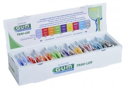 GUM Trav-Ler zásobník obsahujúci 180 ks medzizubných kefiek s CHX