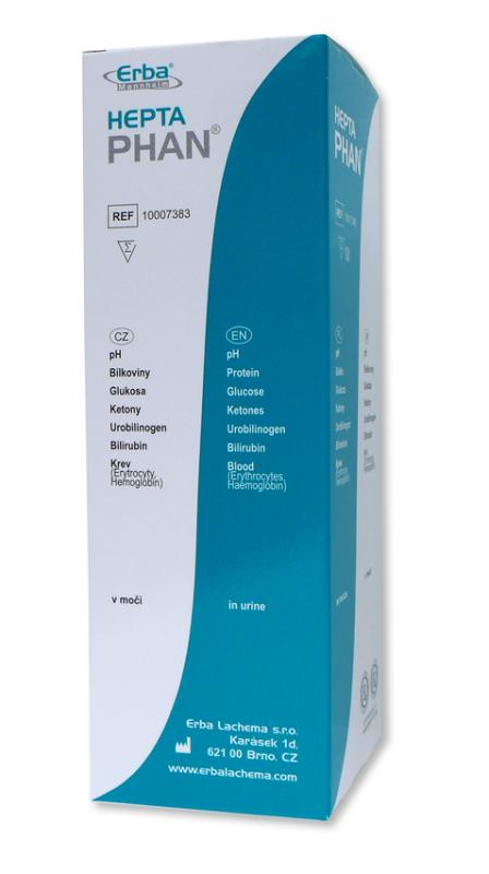 HeptaPHAN – pH, bílk., gluk., urobil., bilirub., ketolátky, krev