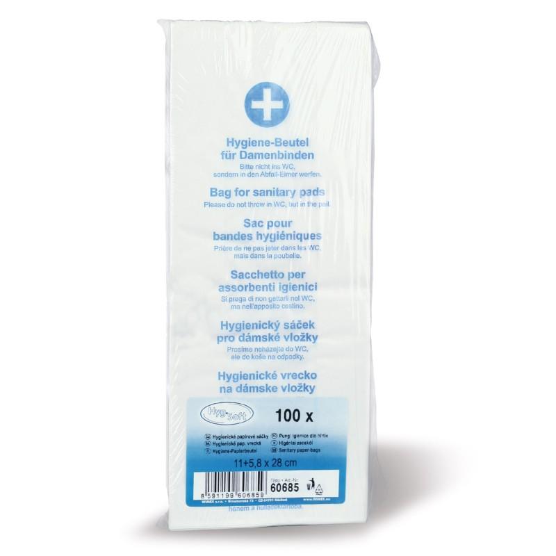 Hygienické vrecká papierové, 100 ks