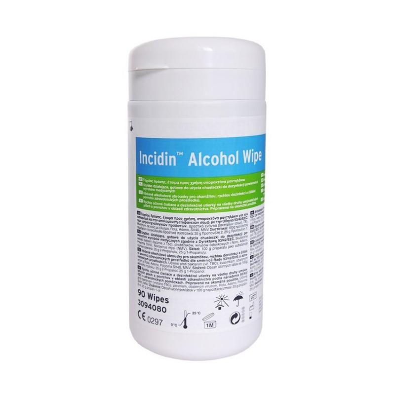 Incidin Wipe dezinfekčné utierky s alkoholom, dóza, 90 ks