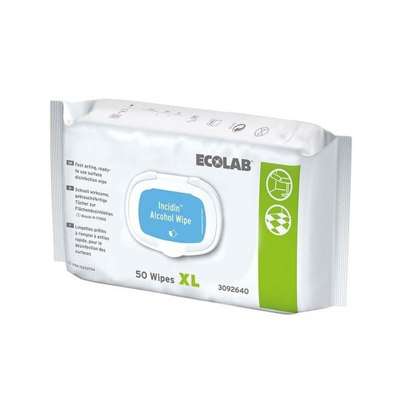 Incidin Wipe dezinfekčné utierky s alkoholom, XL flowpack, 50 ks
