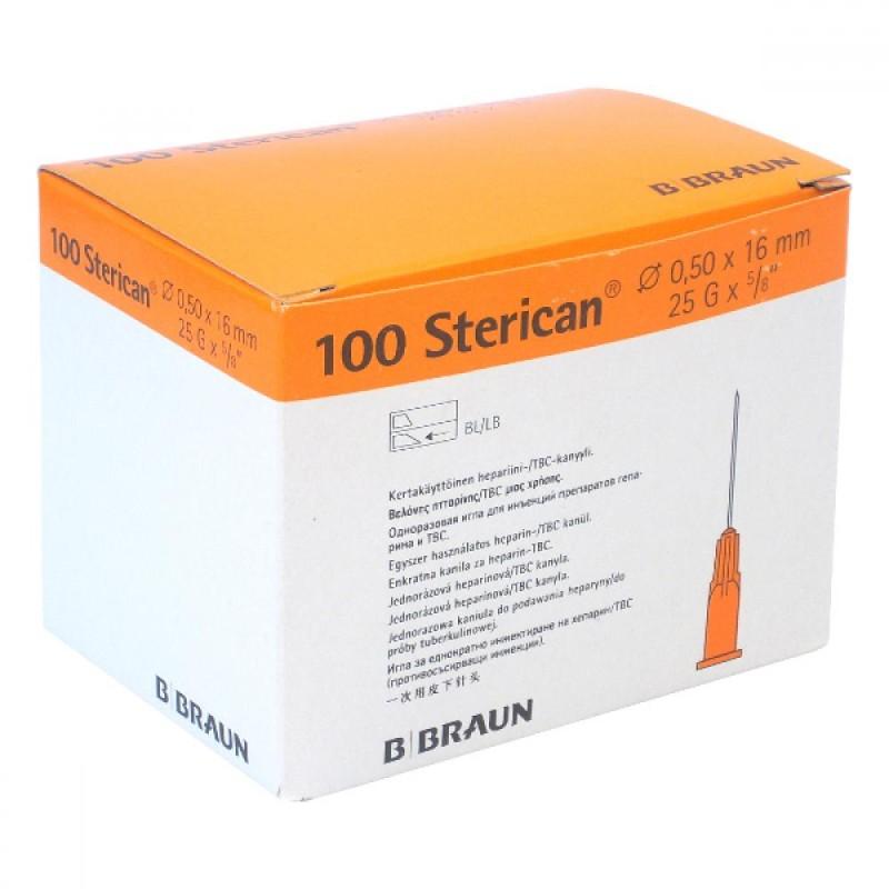 "Injekčná ihla Sterican heparin 25G x 5/8"" 0,50 x 16 mm oranžová, 100 ks"