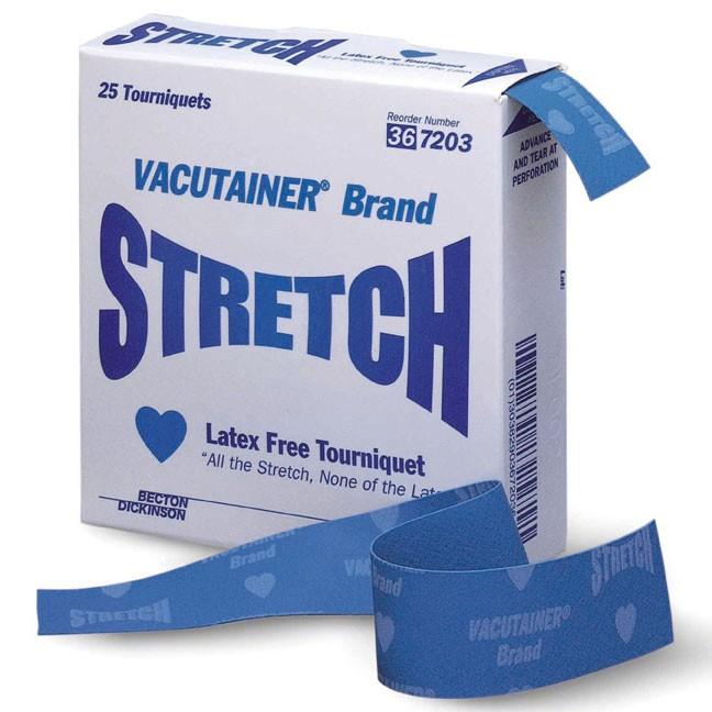 Jednorázové škrtidlo neobsahující latex BD Stretch™, 25 ks v balení