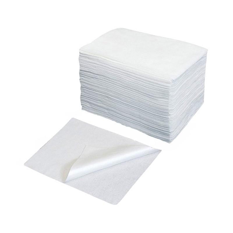 Jednorázové utěrky Bio Eco z netkané textilie, 70 x 50 cm, bílé, 50 ks