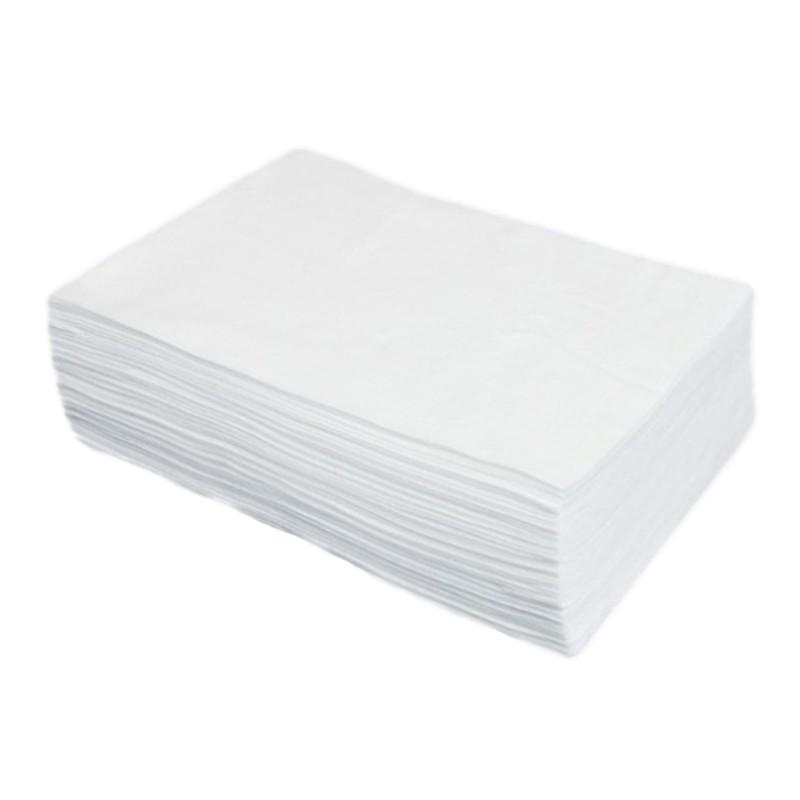 Jednorázové utěrky z vlákniny Basic extra hladké, 70 x 40 cm, bílé, 100 ks
