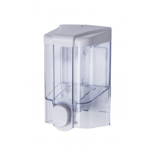 JET Transparent dávkovač tekutého mydla 0,5 l, ABS nástenný