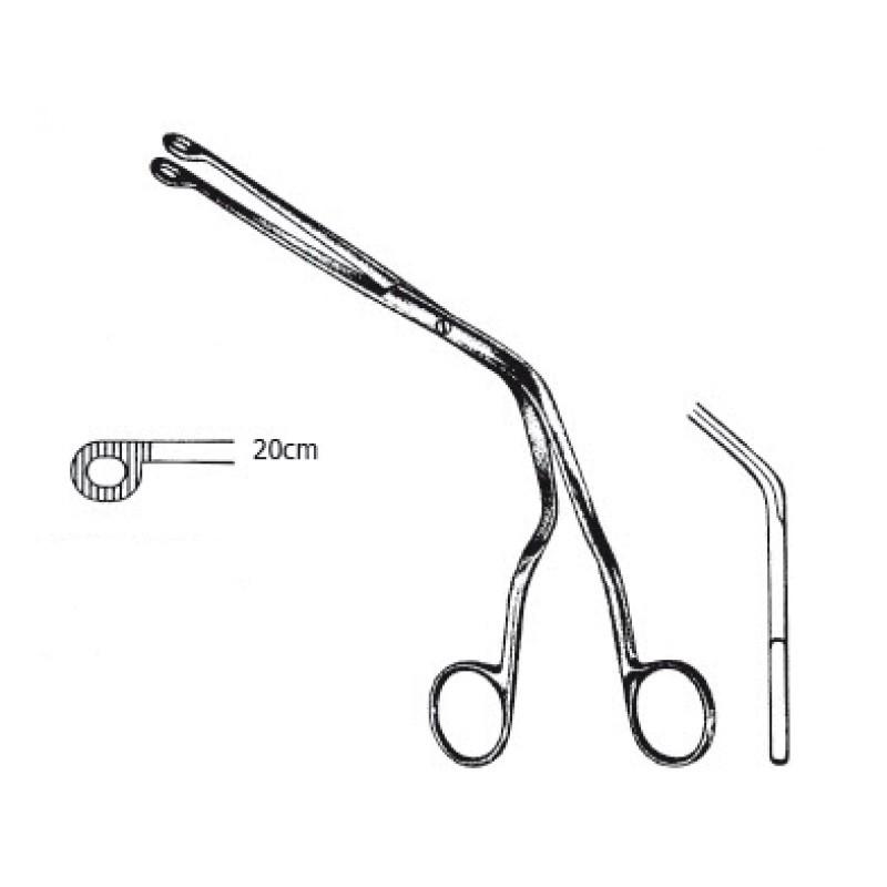 Kliešte Magill na zavádzanie endotracheálnej rúrky, 20 cm