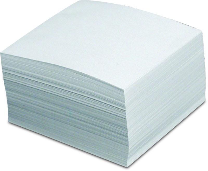 Kocka lepená biela, 85x85x40 mm