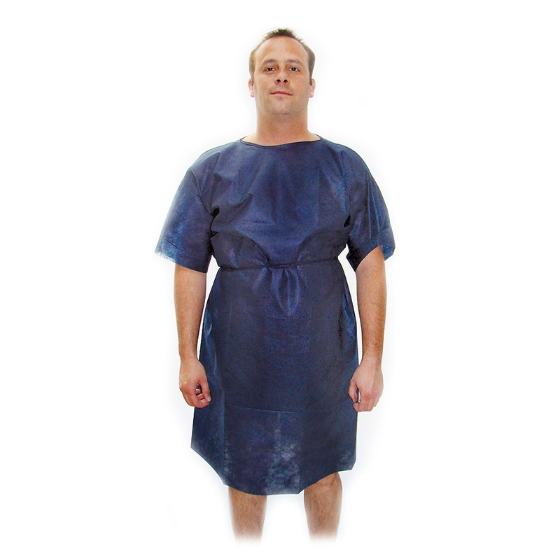 Košeľa pre pacientov Foliodress, typ Anjel, tm. modrá, 110 x 140 cm, 1ks