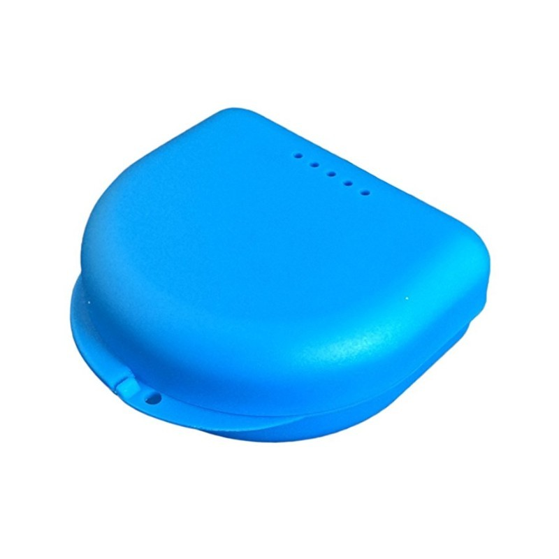 Krabička k úschove bieliacich nosičov modrá