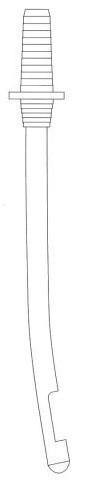 Kyreta aspiračná rigidná zahnutá 9 mm, 1 ks