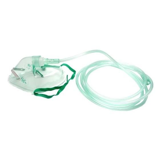 Kyslíková maska pre dospelých a deti s hadičkou a nosnou svorkou (GL), 2,1m