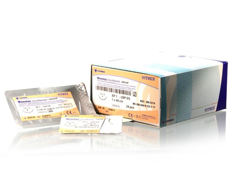 Monolac natural 3/0 (2) 1x0,45m DS19, 24ks v balení