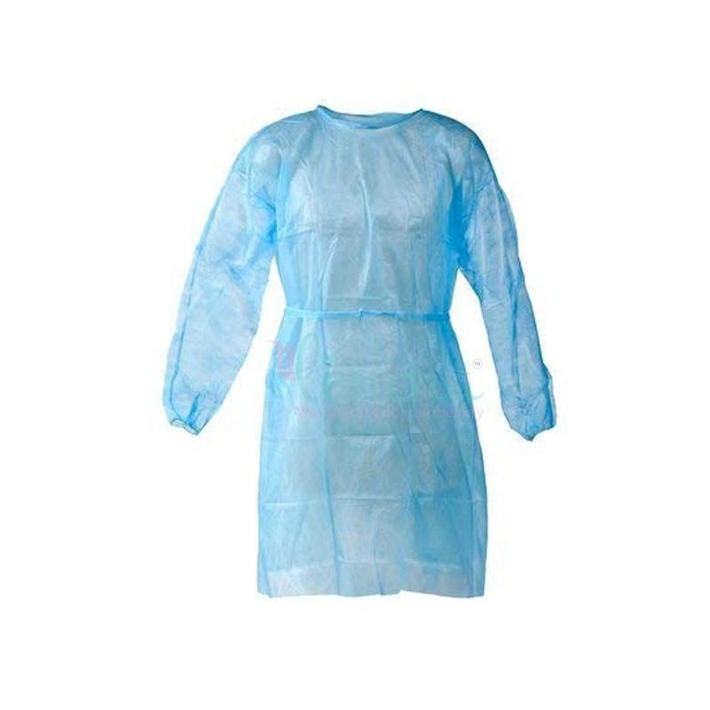 Nepropustný plášť, modrý, 120 x 140 cm, 10 ks v balení