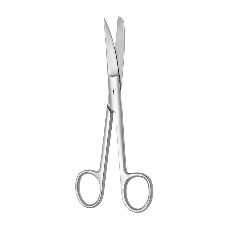 Nožnice chirurgické zahnuté hrotnatotupé
