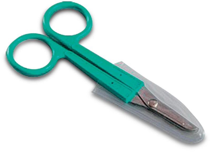 Nůžky na šití sterilní zelené, délka 12 cm