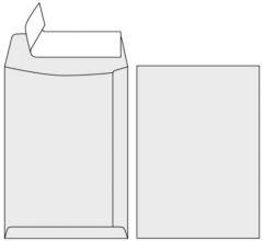 Obálka C4 samolepiaca, biela s krycou páskou