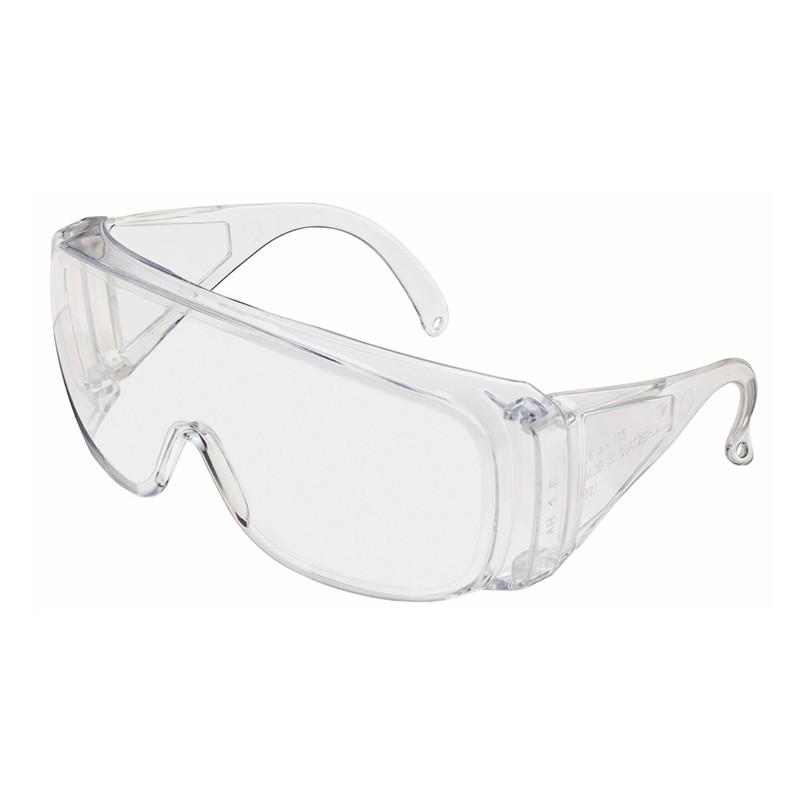 Ochranné okuliare, široké, transparentné s bočnicami, 1 ks