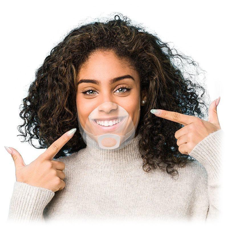 Ochranný štít na nos a ústa Mouth Shield s gumičkami za uši, 2 ks