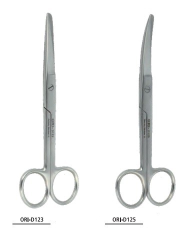 Ori nůžky chirurgické hrotnatotupé, 14,5 cm