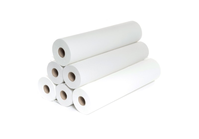 Papier dvojvrstvový 70 cm x 47 m perforácia 35 cm, biela