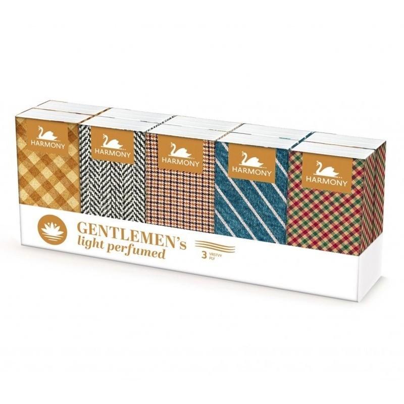 Papierové vreckovky Harmony parfumované, 3-vrstvové, 10 x 10 ks