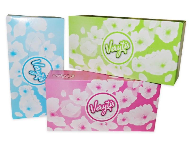 Papírové kapesníky - kosmetické ubrousky, 2-vrstvé, 150 ks v boxu