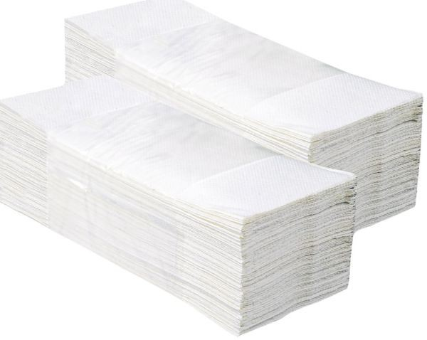 Papírové ručníky IDEAL 100% celulóza, 2-vrstvé, bílé, skládané Z-Z, 3200 ks