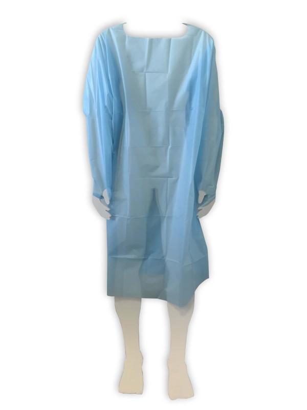 Plášť návštevnícky 120 x 88 cm, modrý, 10 ks v balení