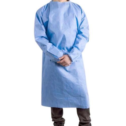 Plášť návštevnícký Foliodress, modrý, nesterilný, 10 ks v balení