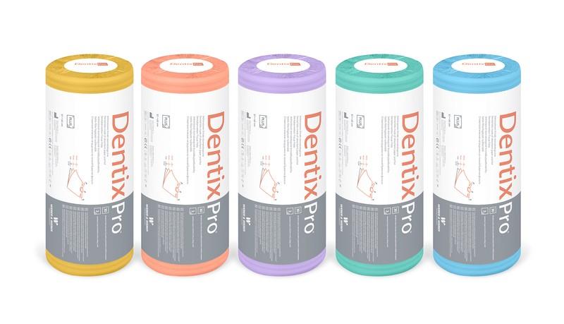 Podbradníky DentixPro Plus s výrezom na krk v rolke 51 x 65 cm, 30 ks