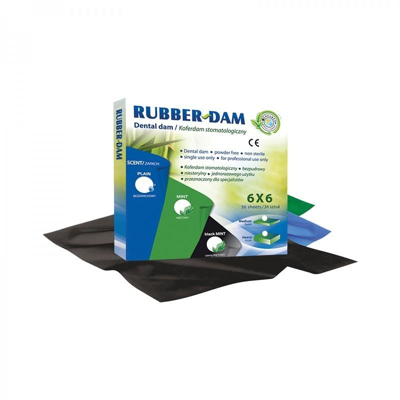 Rubber-Dam, mátový, 36 kusů