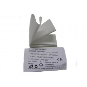 Rúško PVC 20 x 20 cm pre poskytnutie prvej pomoci